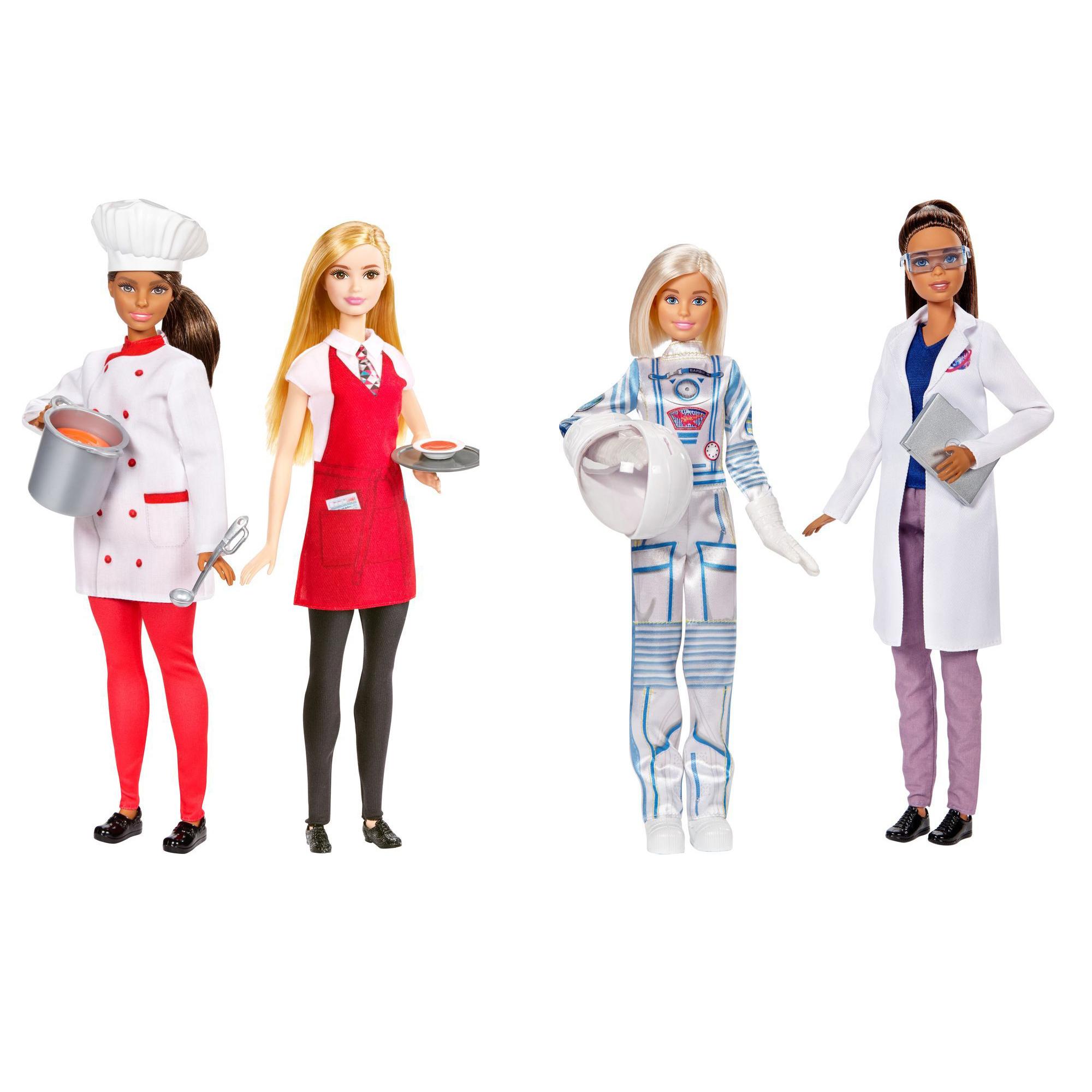 """Набор из 2 кукол """"Барби"""" - Повар и официант / Астронавт и космолог"""