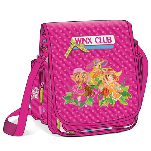 """Школьная сумка через плечо """"Винкс"""", розовая"""