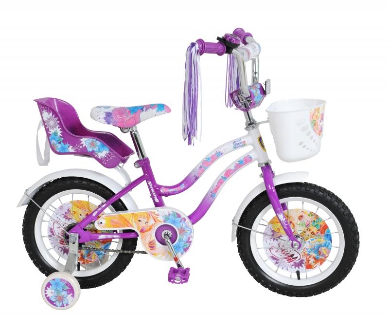Велосипед Winx с сидением для кукол, фиолетово-белый
