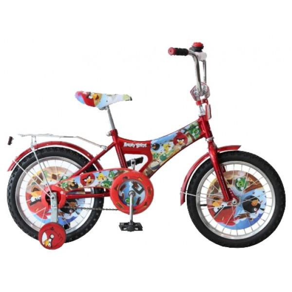 Двухколесный велосипед Angry Birds, красный
