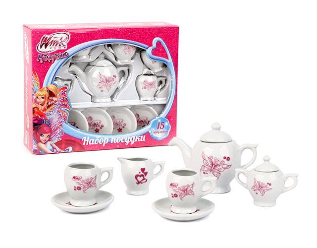 """Набор посуды """"Винкс"""" - Чайный сервиз, 13 предметов"""