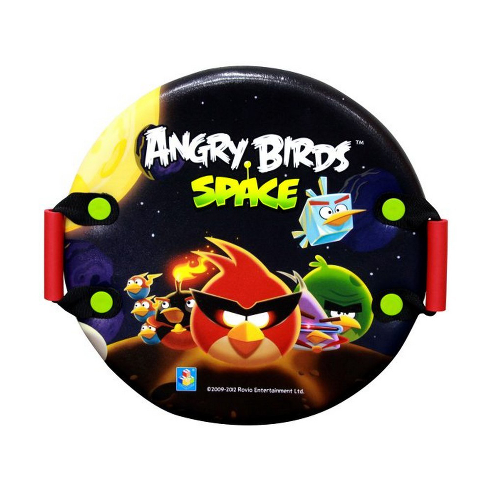 Круглая ледянка Angry Birds - Space, с плотными ручками, 54 см