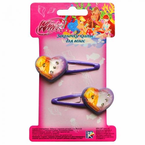 Набор заколочек-клипов для волос, фиолетовые, 2 шт.