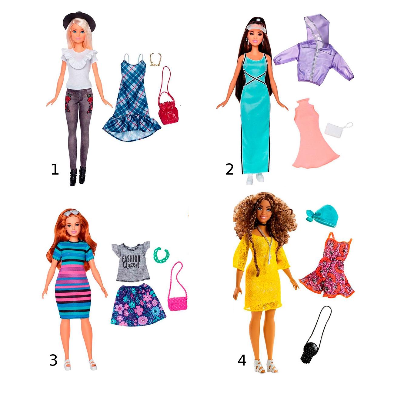 """Кукла Барби """"Игра с модой"""" с набором одежды"""
