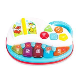 """Музыкальная игрушка """"Пианино"""" со светом, цвета в ассорт."""