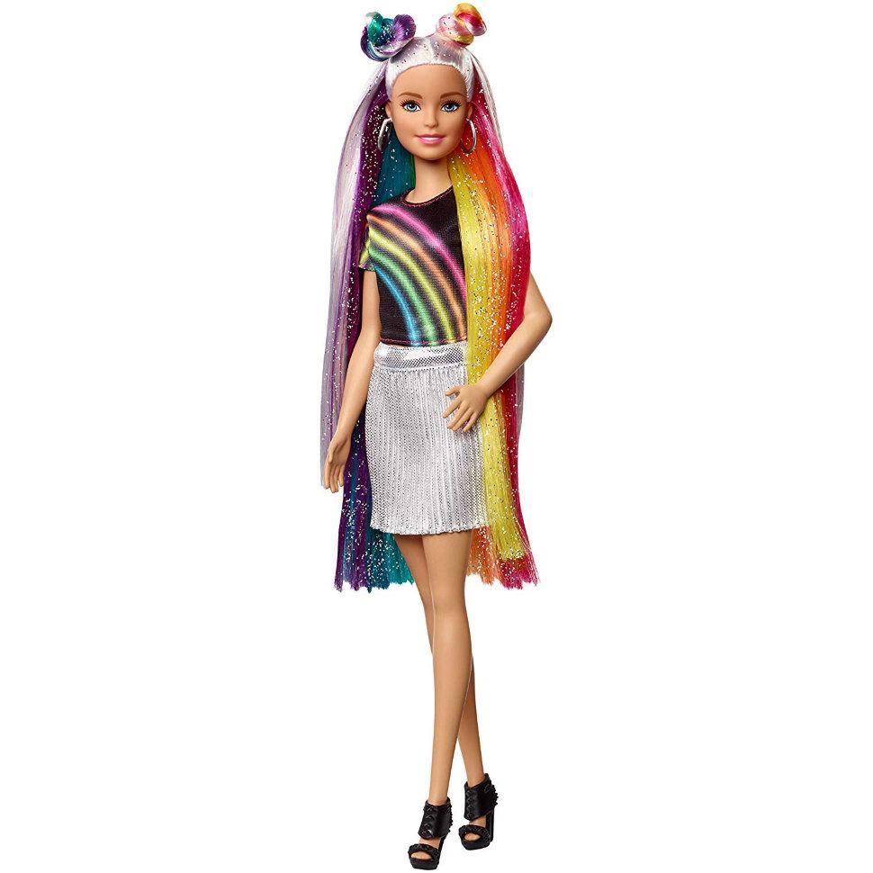 """Кукла Барби """"Радужное сияние волос"""" - Блондинка"""