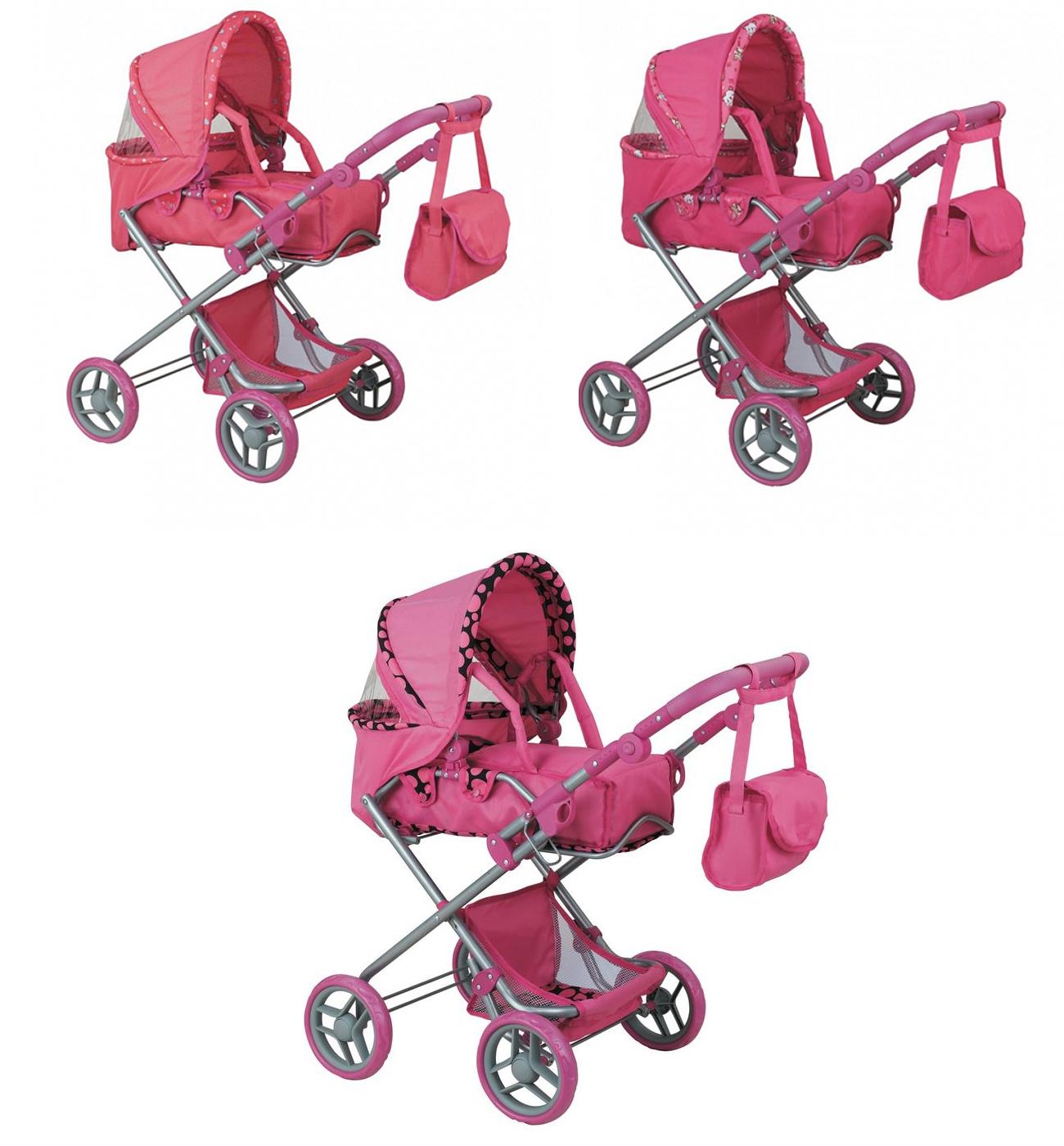 Коляска-трансформер для кукол Buggy Boom Infinia, розовая, 83 см