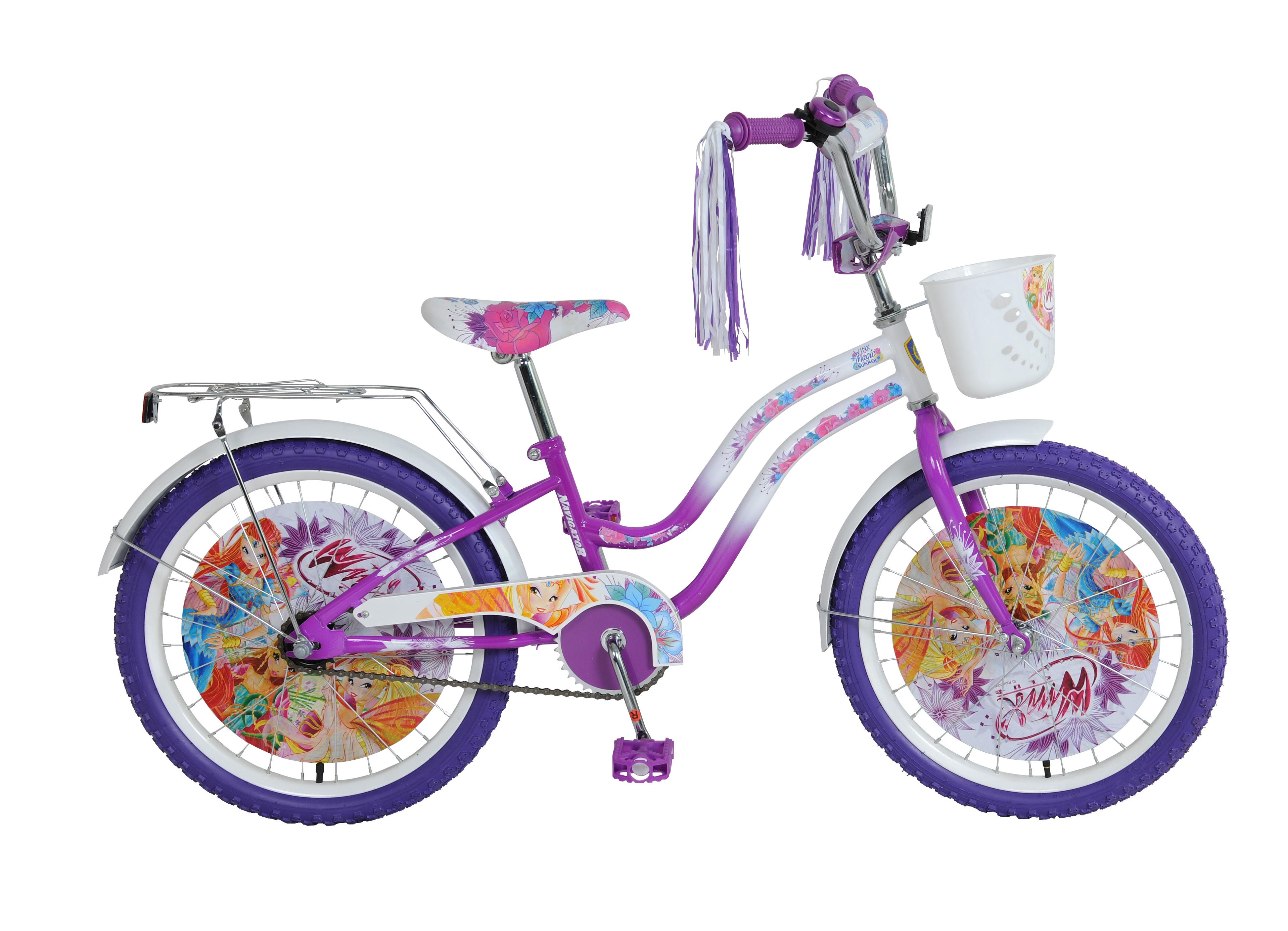 """Двухколесный велосипед """"Винкс"""", фиолетово-белый"""