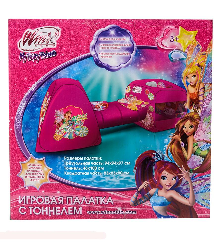 Детская игровая палатка Winx с тоннелем в коробке