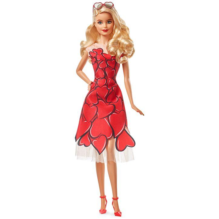 """Коллекционная кукла """"Барби"""" в красном платье"""