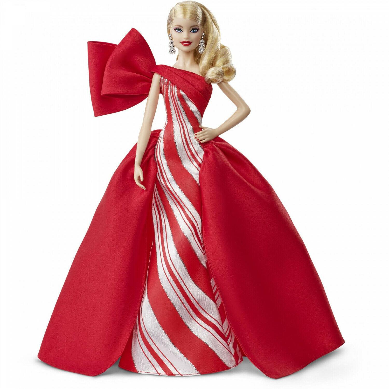 """Праздничная кукла """"Барби"""" - Блондинка в красном платье"""