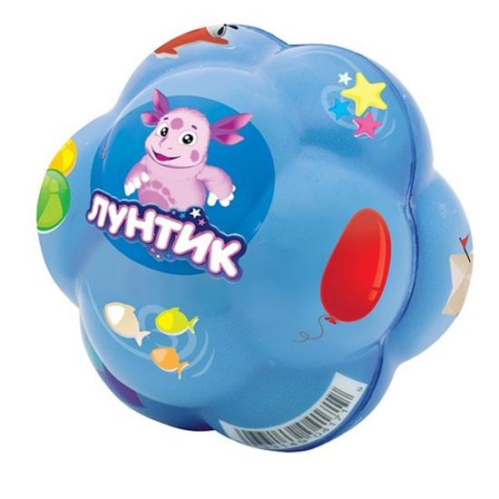 """Супер-прыгающий мяч """"Бозагга"""" - Лунтик, голубой, 7.5 см"""