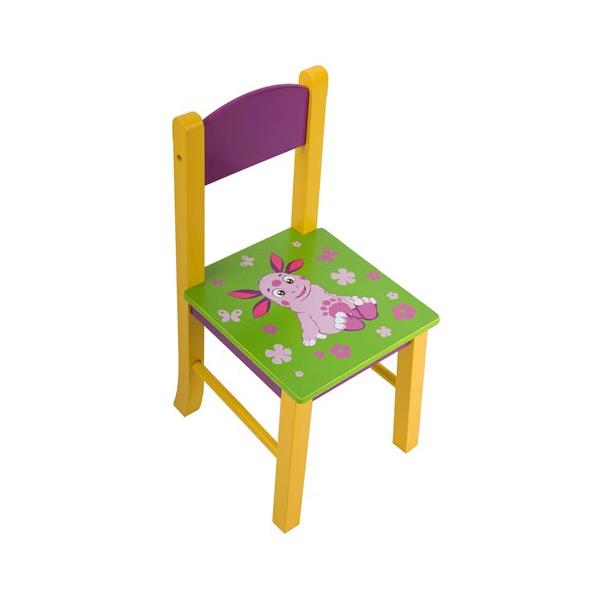 """Детский квадратный стул """"Лунтик"""", деревянный"""