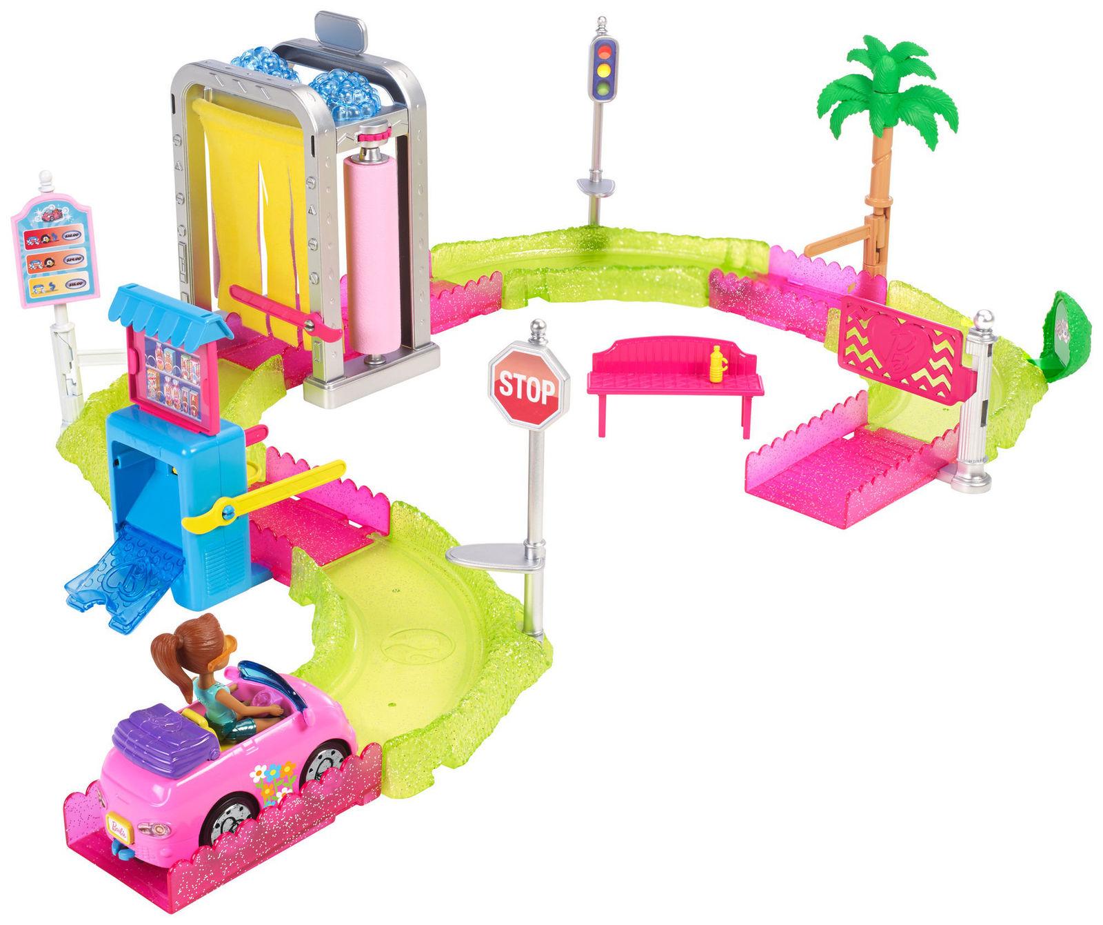 """Игровой набор с куклой """"Барби: В движении"""" - Автомойка"""