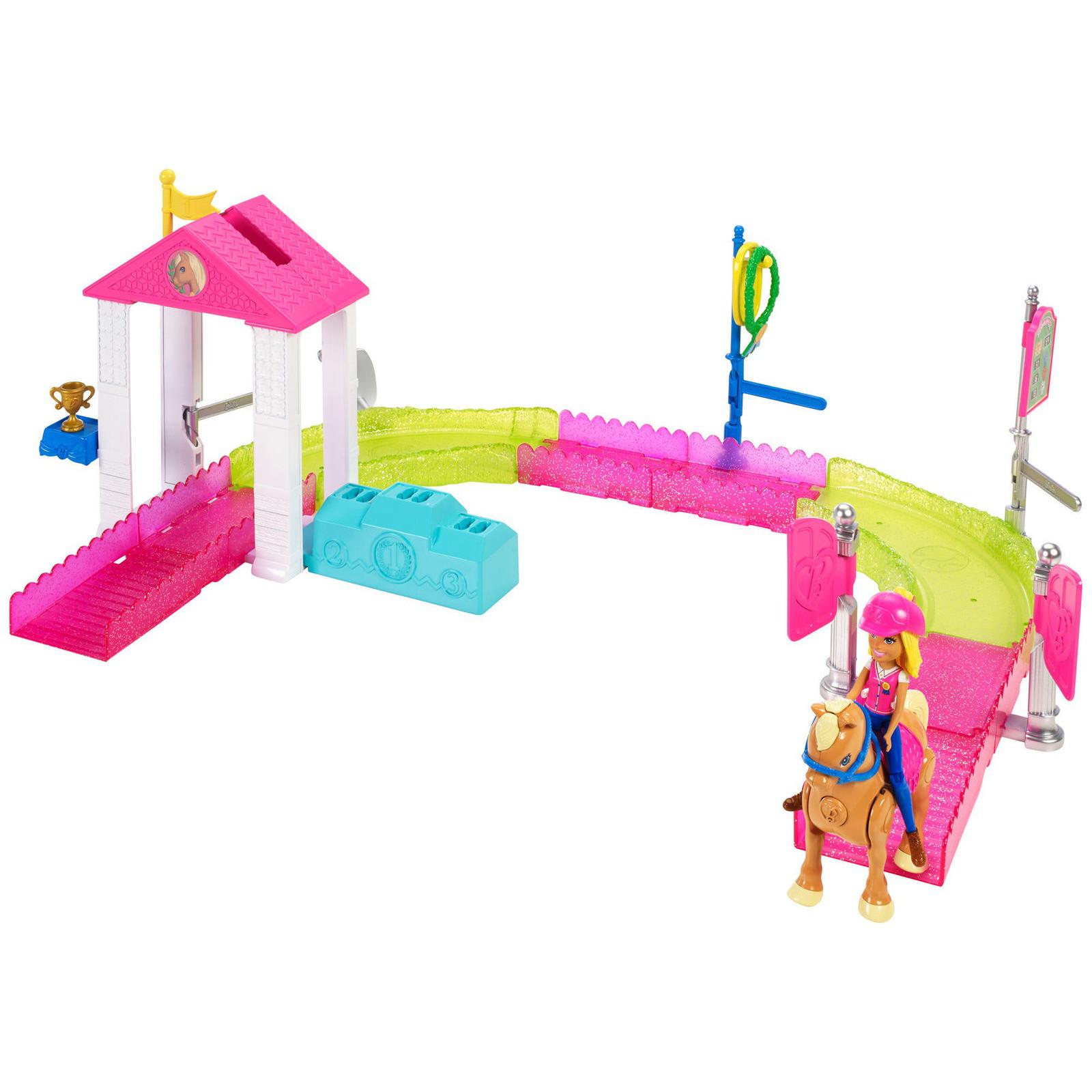 """Игровой набор с куклой """"Барби: В движении"""" - Гонки на пони"""