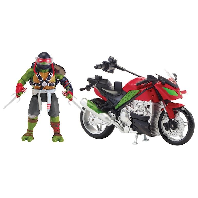 """Игровой набор """"Черепашки ниндзя"""" - Мотоцикл с фигуркой Рафа"""