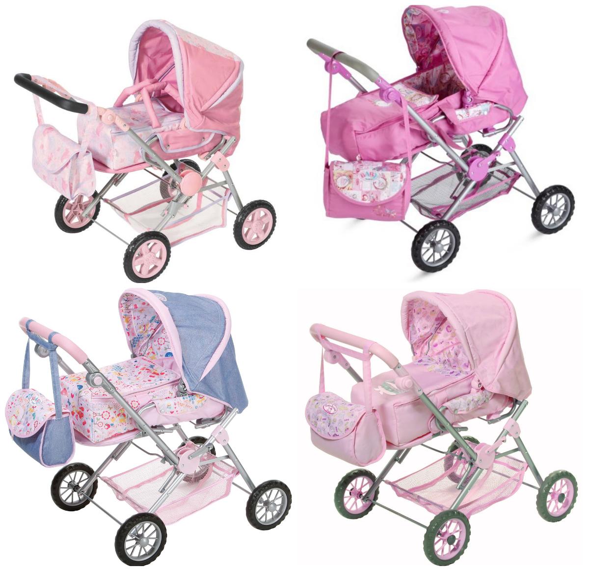 Прогулочная коляска 3 в 1 De Luxe для кукол Baby Born