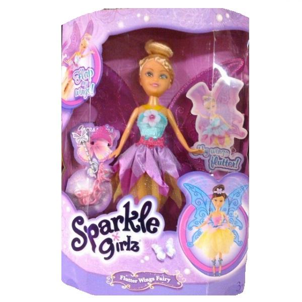"""Кукла Sparkle Girlz """"Цветочная фея с аксессуарами"""" - Блондинка в фиолетово-голубом, 28 см"""
