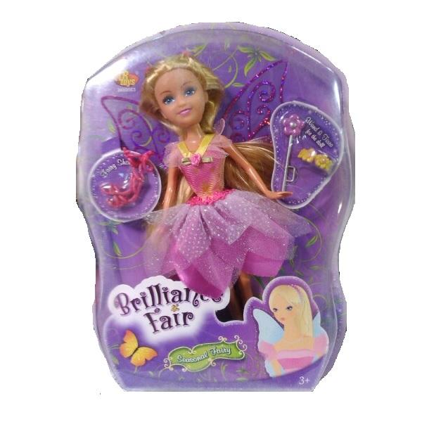 Кукла Brilliance Fair с цветочной диадемой - Блондинка в розовом, 26.7 см