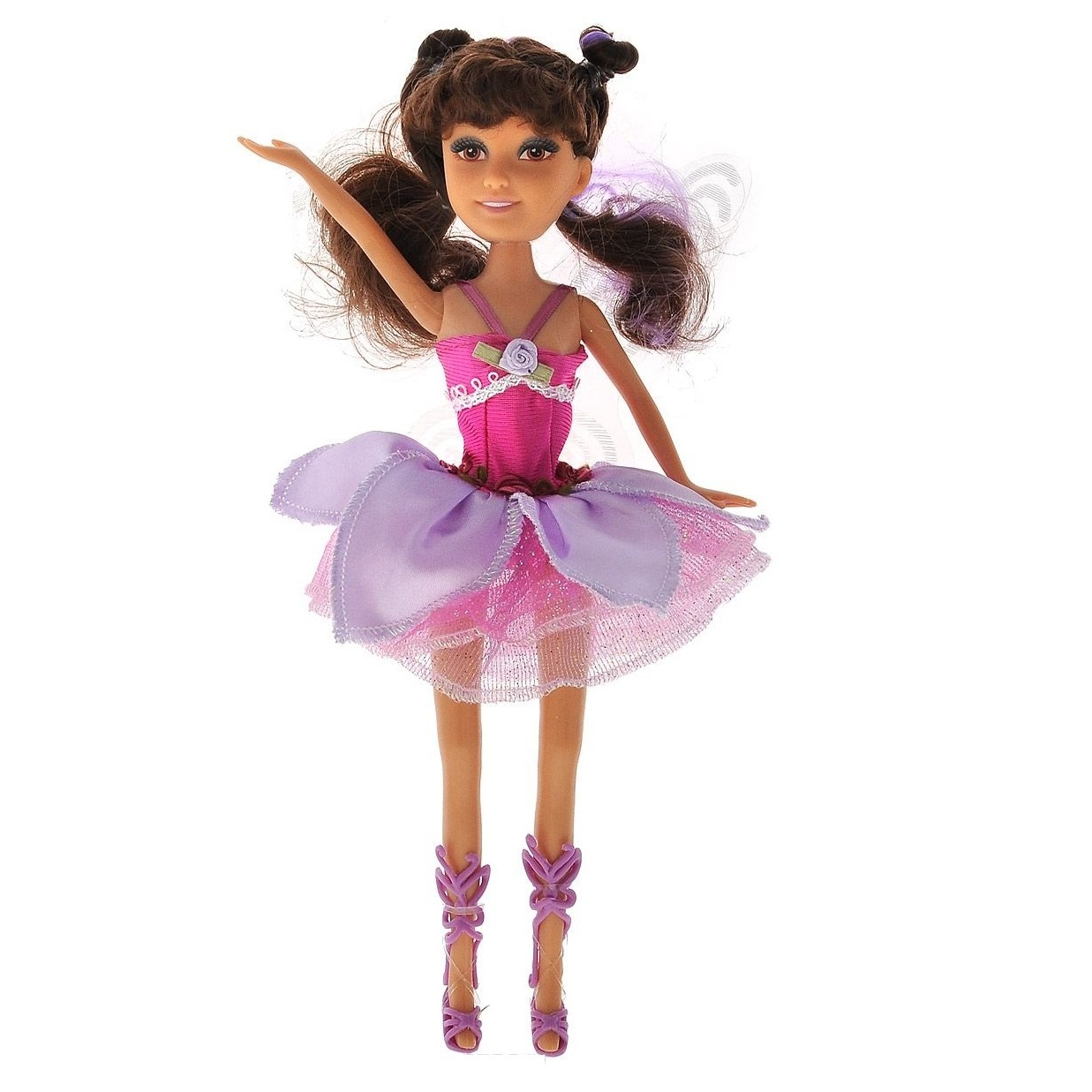 Кукла Brilliance Fair с волшебной палочкой - Брюнетка в розовом платье (свет)