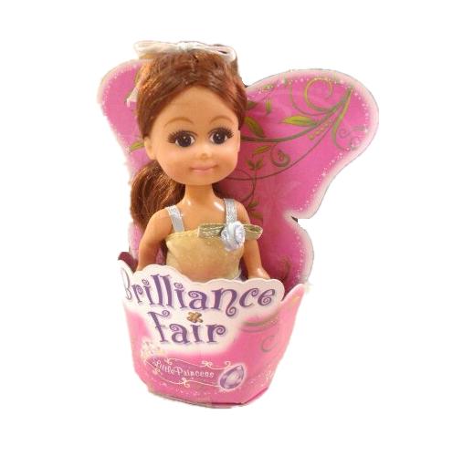 Кукла Brilliance Fair - Маленькая принцесса в бежевом платье, 10 см