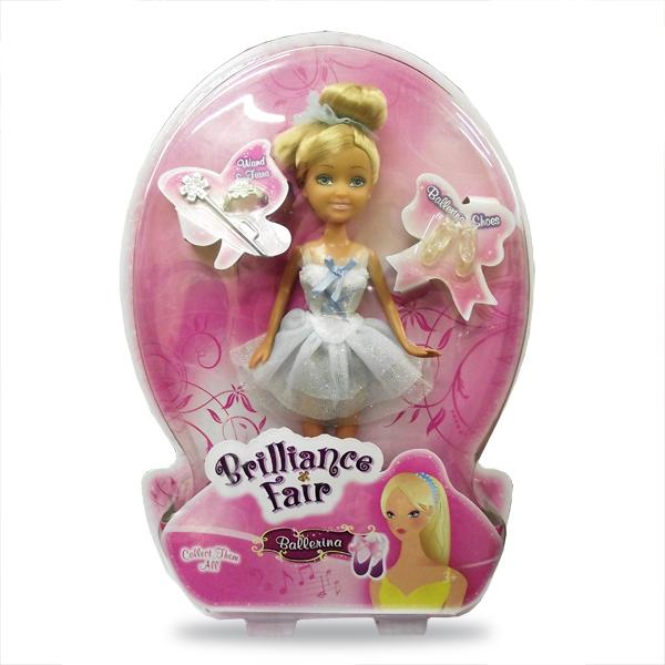 Кукла Brilliance Fair - Балерина с диадемой и волшебной палочкой, 26.7 см