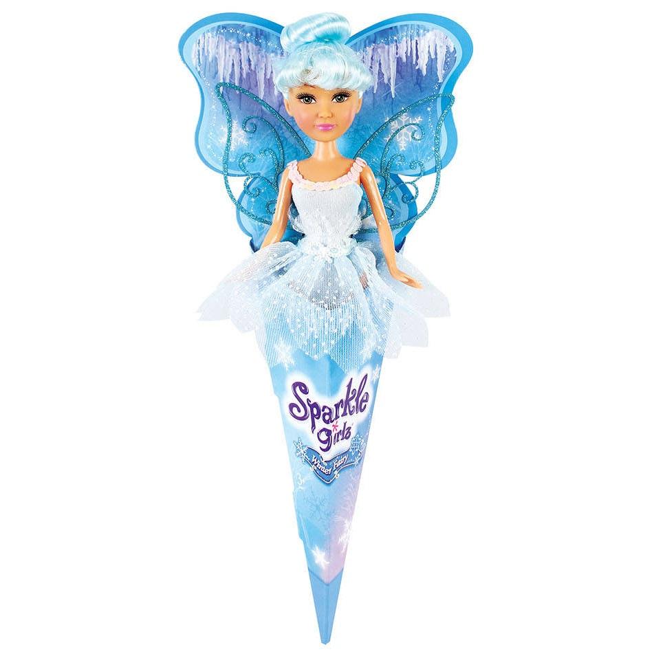 """Кукла Sparkle Girlz """"Зимняя фея"""" с голубыми волосами, 27 см"""