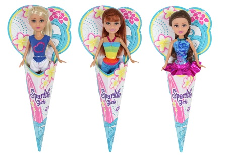Sparkle Girlz. Кукла, в рожке, 3 вида в ассортименте,12шт в дисплейной коробке, 14.5 x 5 x 33.5см