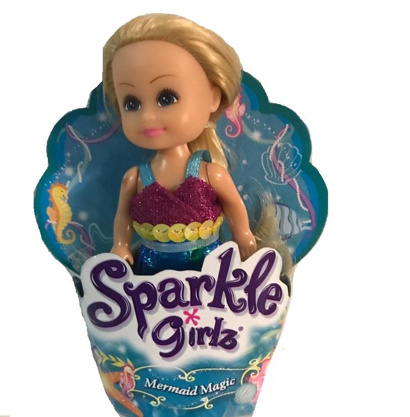 """Кукла Sparkle Girlz """"Волшебная русалочка"""" - Блондинка в фиолетовом топе"""