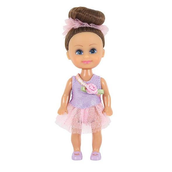Кукла Sparkle Girlz - Маленькая балерина, в фиолетовом платье, 10 см