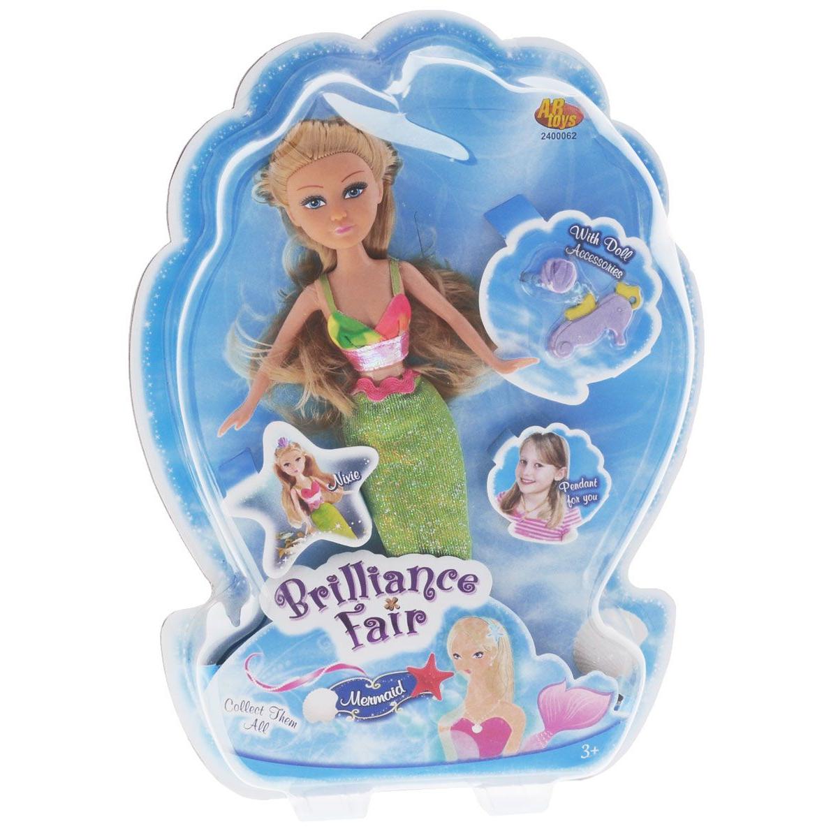 """Кукла Brilliance Fair """"Русалочка"""" - Блондинка с зеленым хвостом"""