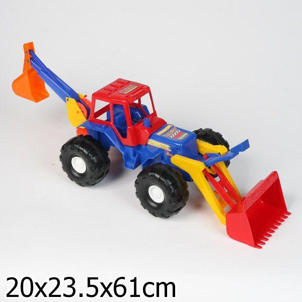 """Трактор """"Лазер"""" с 2 ковшами"""