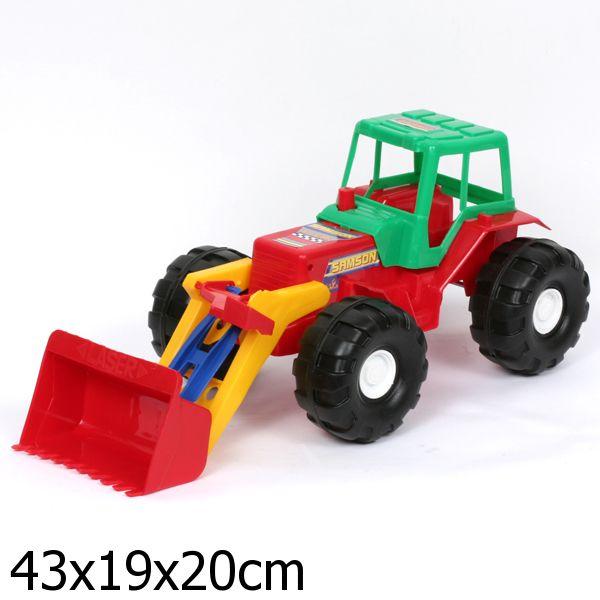 Трактор лазер с ковшом