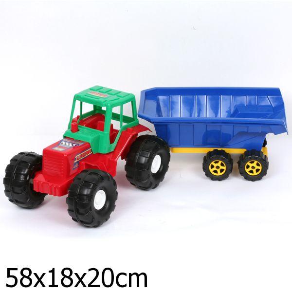 Большой трактор с прицепом