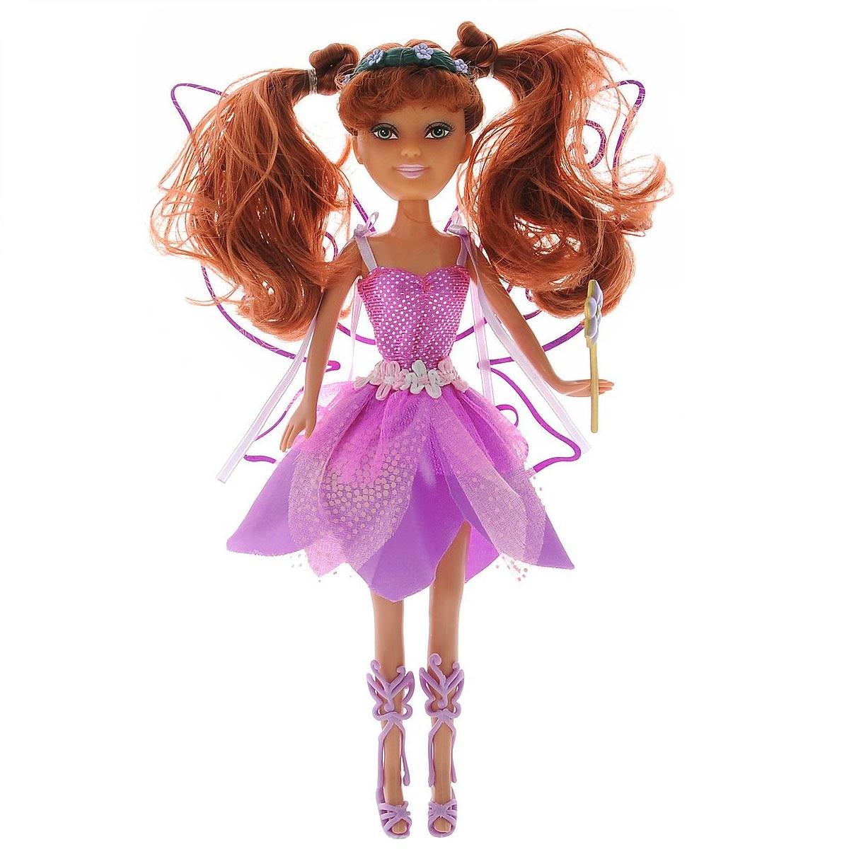 Кукла Brilliance Fair с цветочной диадемой - Брюнетка в розовом, 27 см