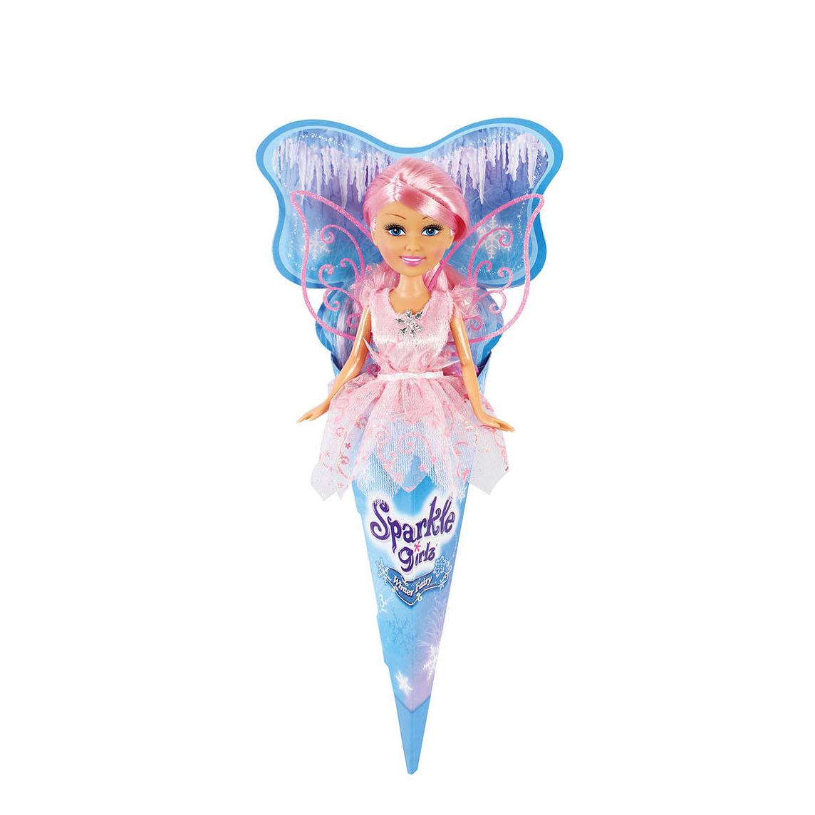"""Кукла Sparkle Girlz """"Зимняя фея"""" с розовыми волосами, 27 см"""