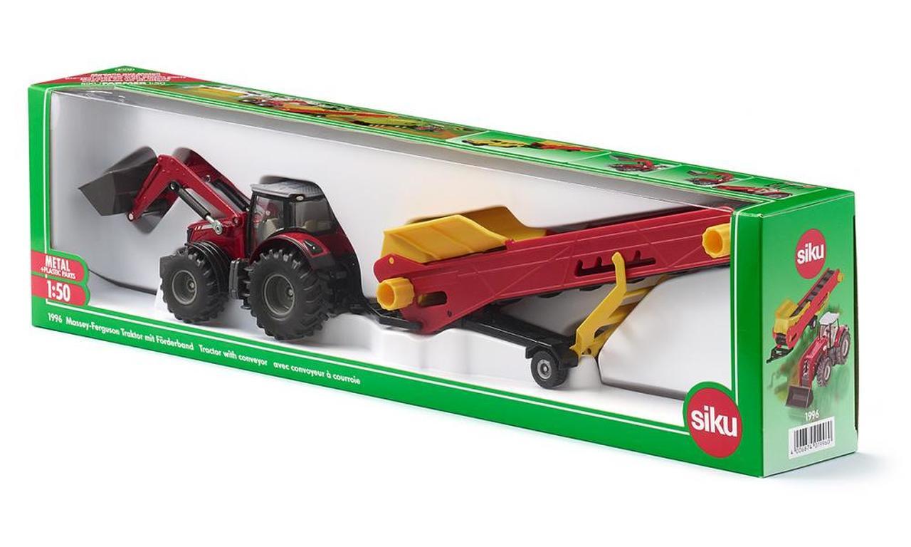 Трактор Massey Ferguson с конвейером (1:50)