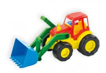 Игрушечный трактор с ковшом