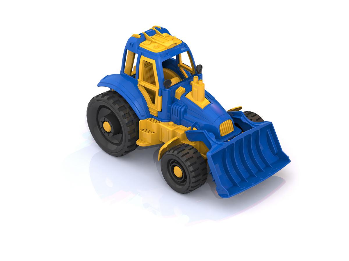 Игрушечный трактор с грейдером