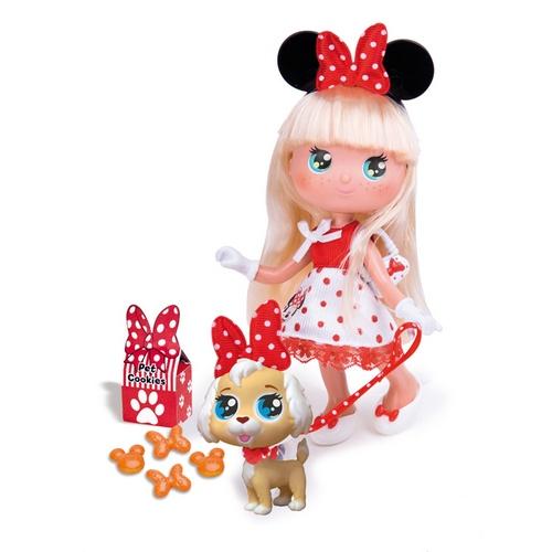 Кукла Минни блондинка с собачкой