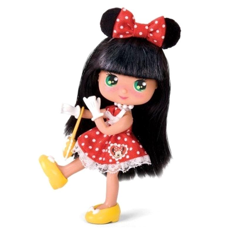 Кукла Минни брюнетка в красном