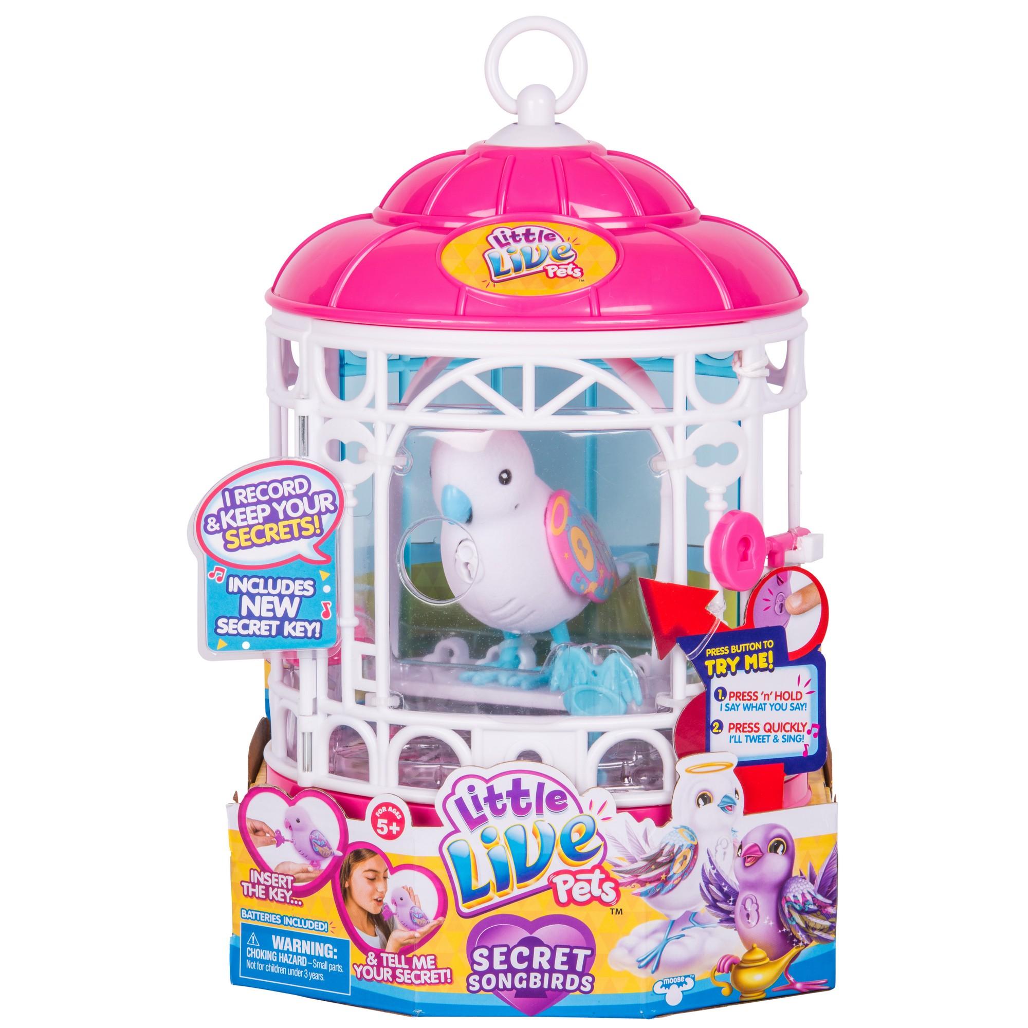 Интерактивная игрушка Little Live Pets - Птичка в клетке, белая