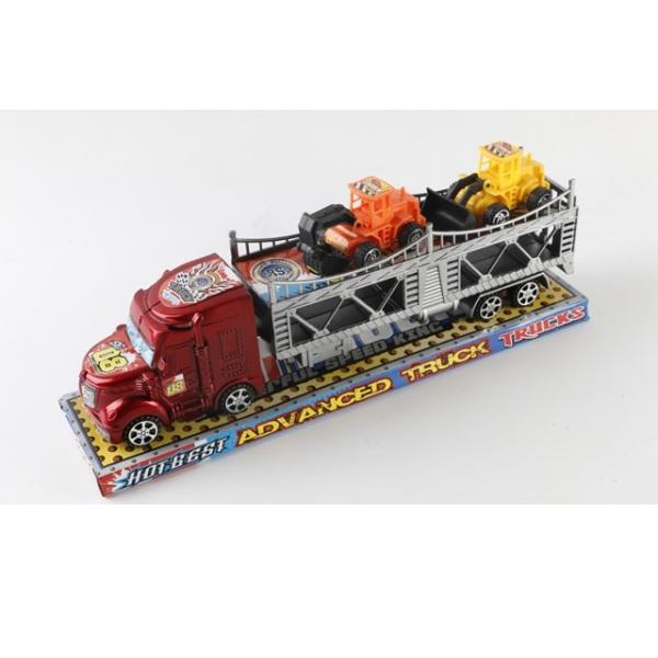 Инерционный трейлер Advanced Truck с 2 машинками