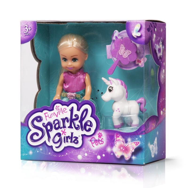 """Sparkle Girlz Набор игрушек """"Принцесса с питомцем"""" (кукла 11,5 см, питомец, аксесс., в ассорт.)"""