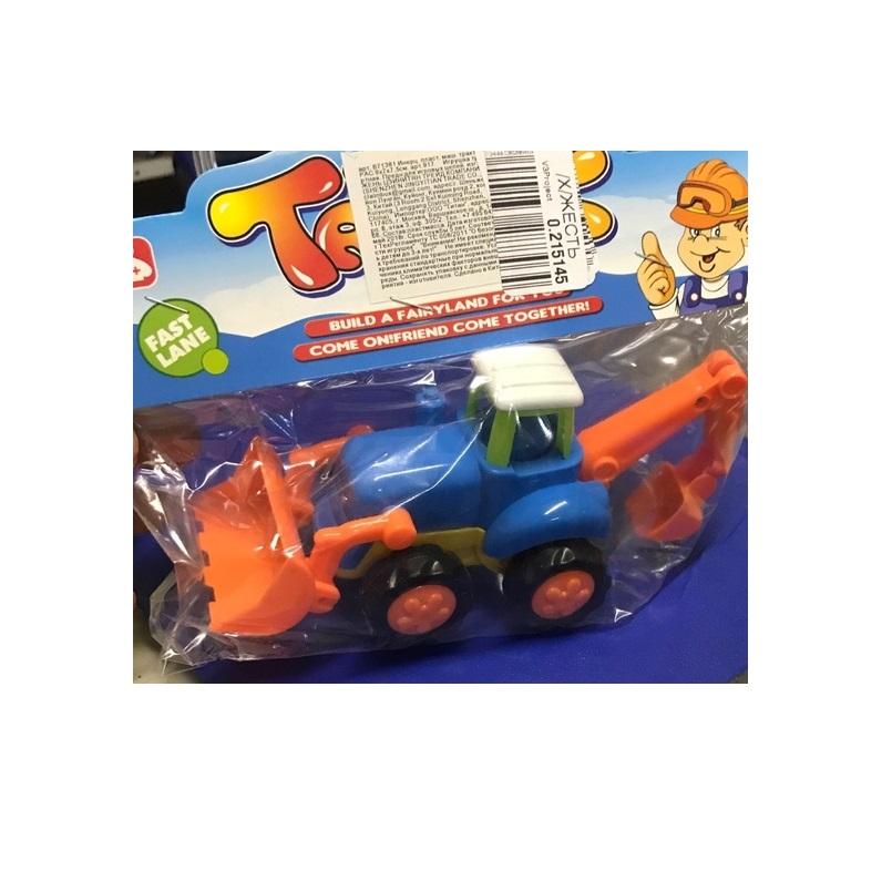 """Инерционная машина """"Трактор"""", сине-оранжевый"""