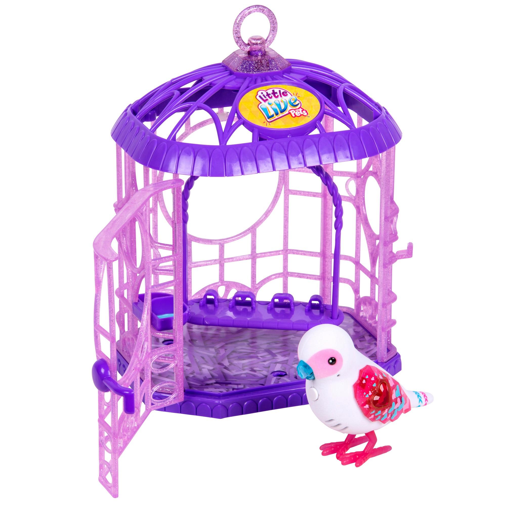 Интерактивная игрушка Little Live Pets - Белая птичка в клетке (звук, движение)