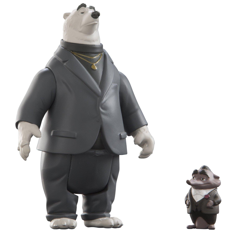 """Набор из 2 фигурок """"Зверополис"""" - Мистер Биг и медведь-телохранитель"""