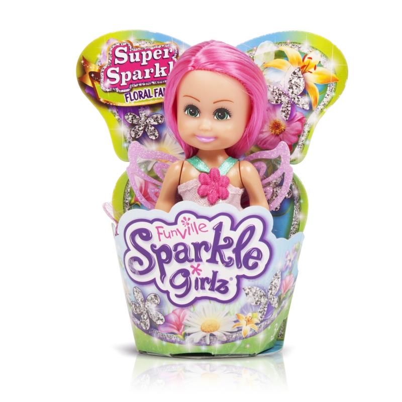 """Sparkle Girlz Кукла """"Цветочная фея"""" (11,5 см, подвижн., в ассорт., шоубокс, в форм. для кекса)"""