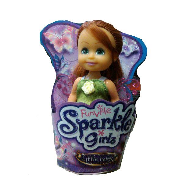 Кукла Sparkle Girlz - Маленькая Фея, в зеленом, 10 см