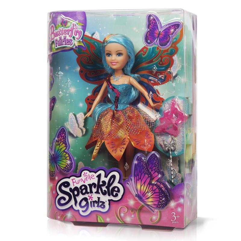 """Sparkle Girlz Кукла """"Фея бабочка"""" (26,5 см, подвижн., аксесс., в ассорт.)"""